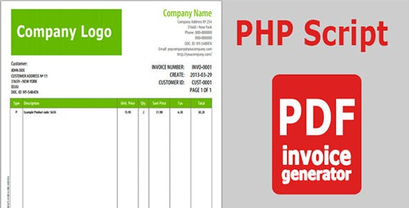 PHP Invoice PHP Scripts From CodeCanyon - Php invoice script