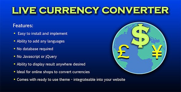Live Currency Converter V 1 2 Codecanyon Item For