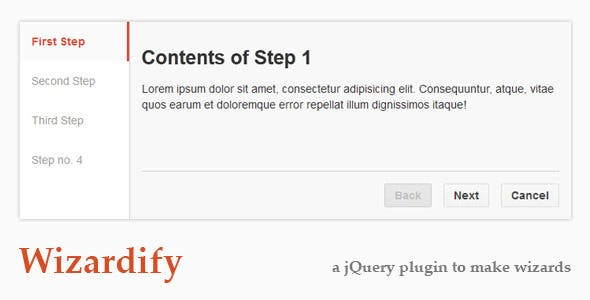 Wizardify jQuery Plugin by dexterous | CodeCanyon