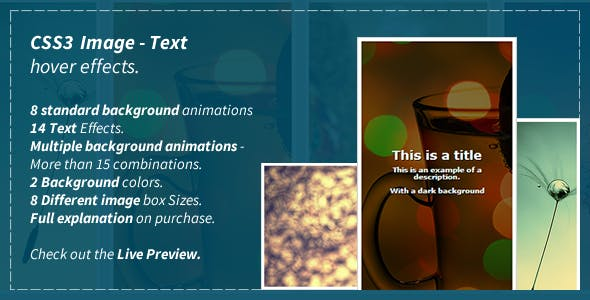 CSS3 Image - Text Hover Effects by GuardianCode | CodeCanyon
