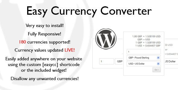 Easy Currency Converter Codecanyon Item For