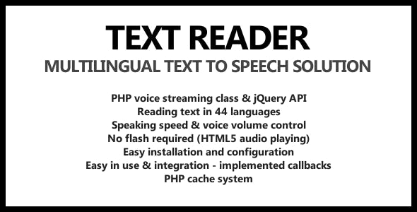 JavaScript, jQuery, and Speech PHP Script from CodeCanyon