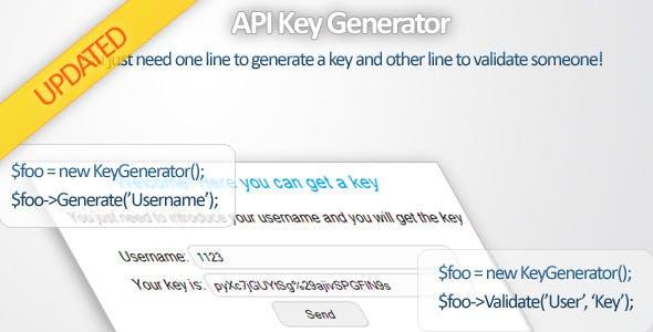 API Key Generator by Sourcegeek | CodeCanyon