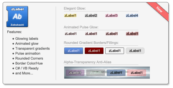 zLabel for WindowsForms by Zakukashi | CodeCanyon