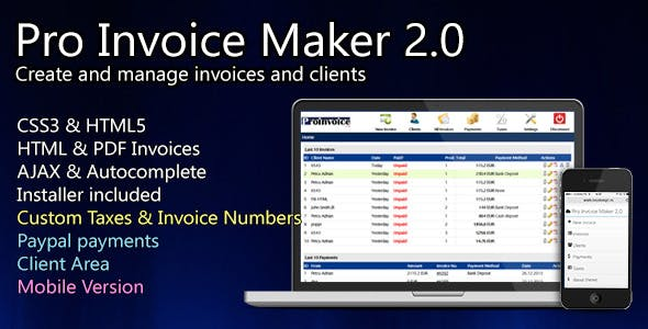 invoice pro plugins code scripts from codecanyon