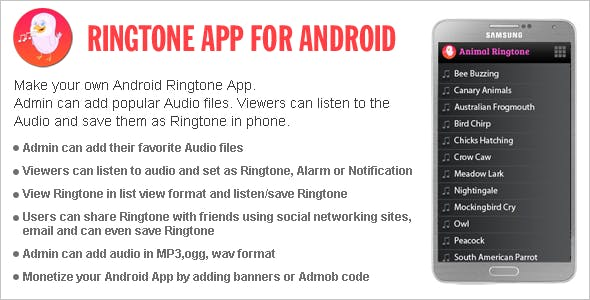 Ringtone App For Android By Wpnova Codecanyon